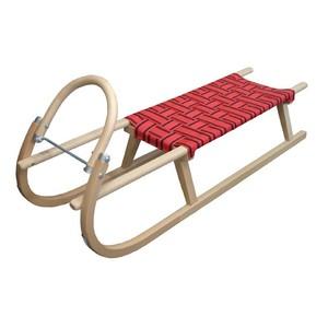 Acra sáně 125cm dřevěné 05-A2042 - červené