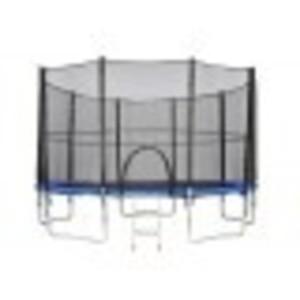 Trampolína 427 cm s bezpečnostní sítí ATHLETIC24 modrá + DÁREK!