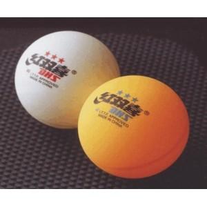 Míčky stolní tenis  DHS ***40mm ŽLUTÉ - balení po 3 ks