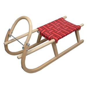 Acra sáně 100cm dřevěné A204 - červené