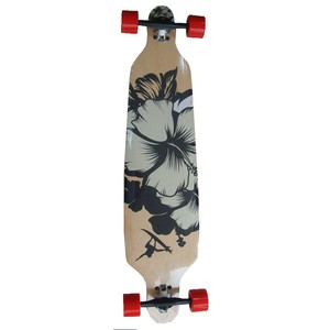 Skateboard LONGBOARD SHAPE SURF BLACK