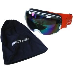 BROTHER B298-B lyžařské brýle s velkým zorníkem - bílé