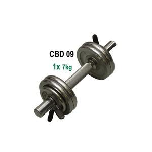 ACRA Nakládací jednoruční činka - chrom - 7 kg