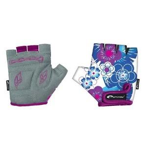 Spokey BLUE GLOVE - Cyklistické rukavice XS, S
