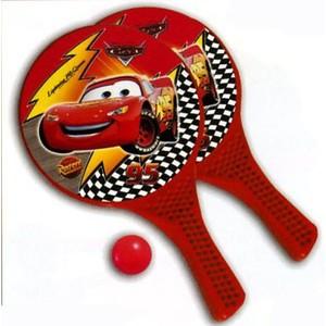 Plážový Tenis CARS 15913 MONDO barva červená velikost rakety 37x22,5cm