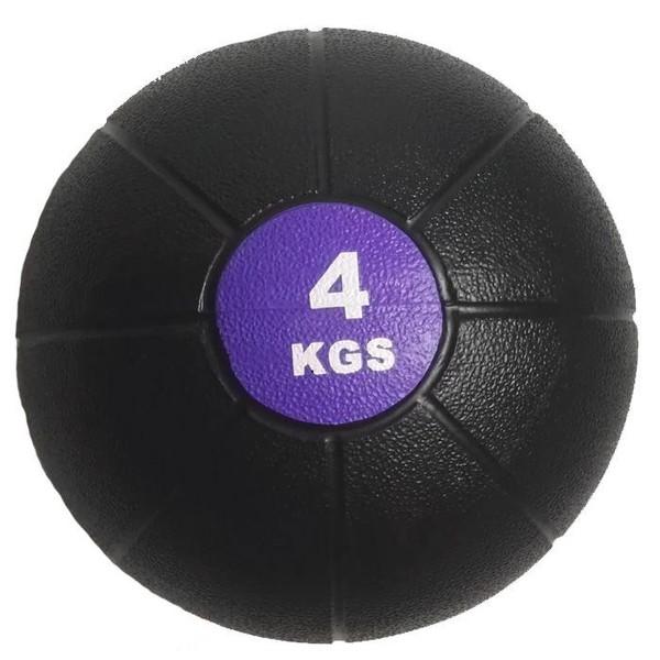 Míč medicinbal plast SEDCO barva černo/fialový váha 4 kg