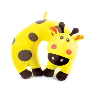 BAMBINI Cestovní polštářek dětský mikrokuličky žirafa