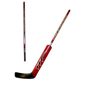 Hokejová hůl brankářská LION rovná barva červená délka 100 cm