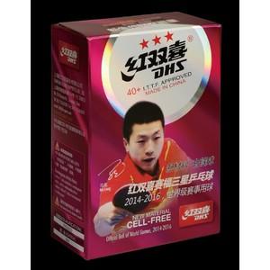 Míčky plastové DHS*** stolní tenis CELL FREE 40mm balení 6 ks