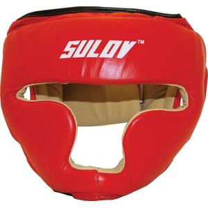 Chránič hlavy uzavřený SULOV, kožený, vel. M, červený