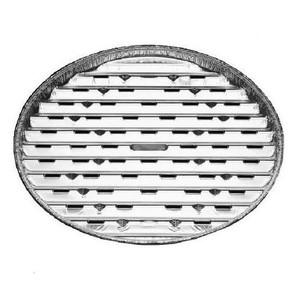 Tácek Alu na gril kulatý, 34 cm, 4 ks