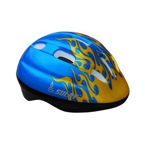 Dětská cyklo helma SULOV JUNIOR, vel. M, modrá s plameny