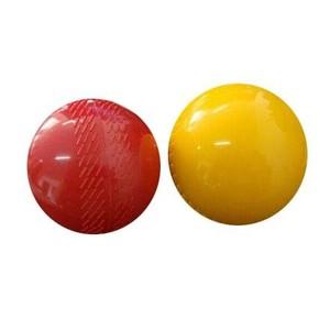 Míč KRIKET červený/žlutý