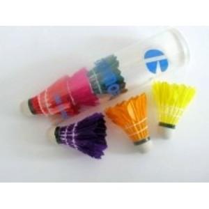 Míček badminton peří barevný