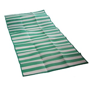 Skládací plážové lehátko SEDCO plastic zelenobílé