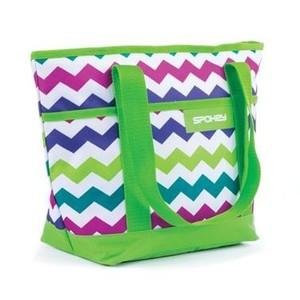 ACAPULCO Plážová termo taška zelená vzor