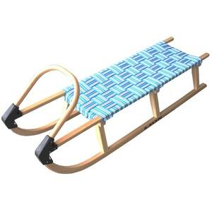 Acra sáně 125cm dřevěné 05-A2042 - modré