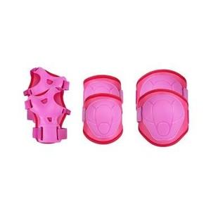 Spokey BUFFER - 3-dílná sada dětských chráničů, růžové, velikost XS-M