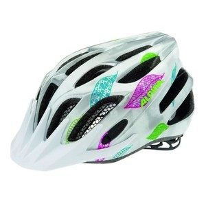 ALPINA FB Junior 2.0 Flash - Cyklistická přilba, 50-55cm - White-Silver-Flags (50-55cm)