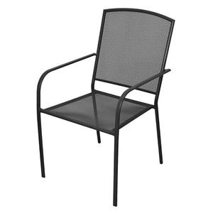 Zahradní židle, černá, 61x56x89 cm