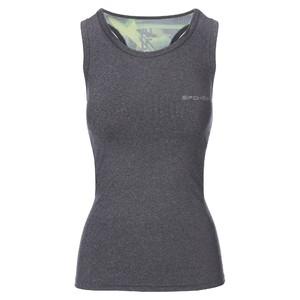MODO, fitness top, šedo-zelený