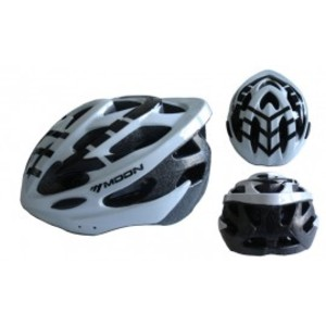 ACRA CSH30B-L bílá cyklistická helma velikost L (58-61cm) 2018