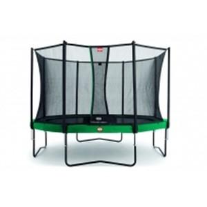BERG  trampolína Champion zelená  380 + Bezpečnostní síť, pohoda