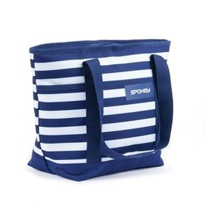 Spokey ACAPULCO Plážová termo taška malá, pruhy - námořnická modrá, 39 x 15 x 27 cm