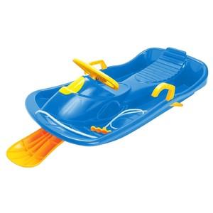 Bob plastový s volantem, modrý