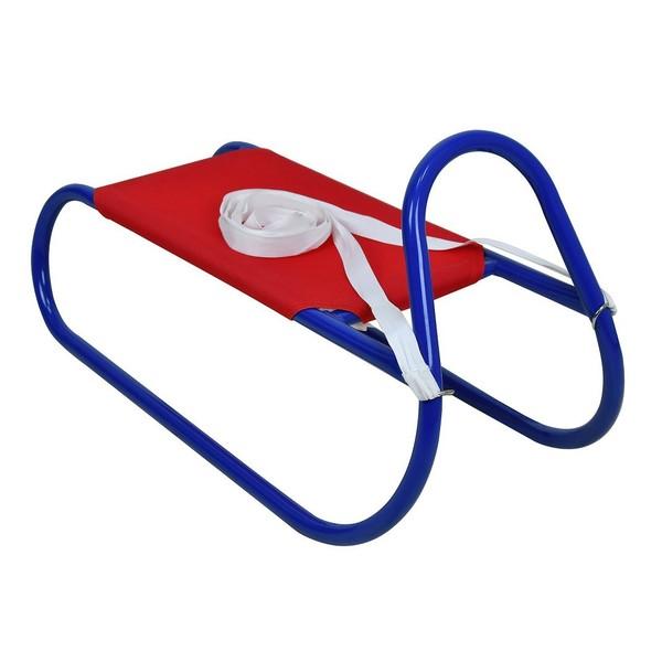 Kovové saně 62 cm, červeno-modré
