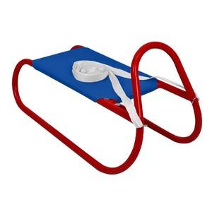 Kovové saně 62 cm, modro-červené
