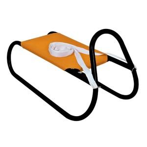 Kovové saně 62 cm, oranžovo-černé