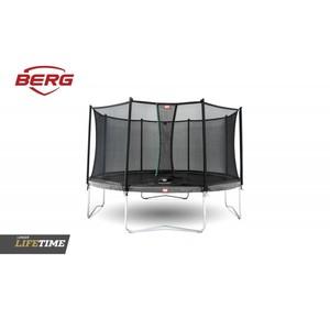 BERG Trampolína  Favorit šedá 430 + Komfort bezpečnostní síť