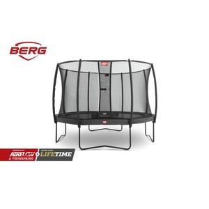 BERG trampolína  Champion Regular 430 šedá  + Bezpečnostní síť DLX XL