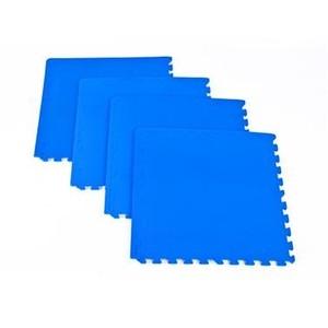 Spokey SCRAB - Podložka puzzle pod fitness vybavení_modrá_4 kusy 61x61 cm, 1,2 cm