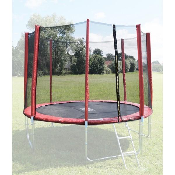 Ochranná síť na trampolínu 305 cm - PVC - na 8 trubek- červená