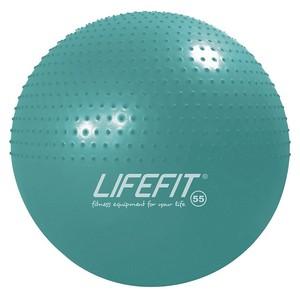 Gymnastická masážna lopta LIFEFIT MASSAGE BALL 55 cm, tyrkysový