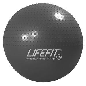 Gymnastická masážna lopta LIFEFIT MASSAGE BALL 75 cm, tmavosivý