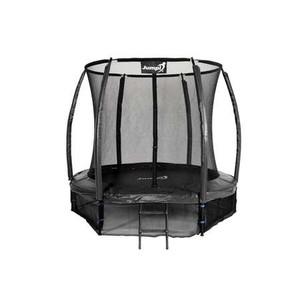 Jumpi záhradná trampolína Maxy comfort plus s vnútornou sieťou 252cm / 8FT čierna