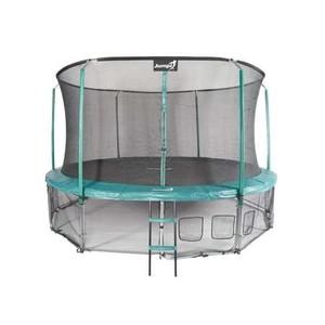 Jumpi zahradní trampolína Maxy comfort  s vnitřní sítí 435cm/14FT zelená