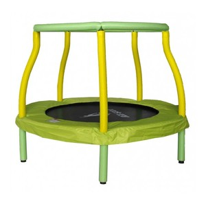 Aga Detská trampolína 116 cm svetlo zelená / žltá