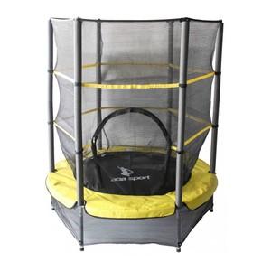 Aga Dětská trampolína 140 cm žlutá  + ochranná síť