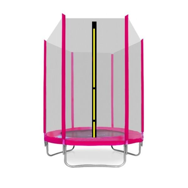 Aga SPORT TOP Trampolína 150 cm růžová + ochranná síť
