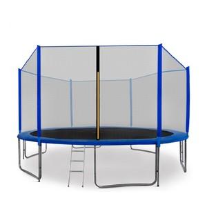 Aga SPORT PRO Trampolína 430 cm modrá + ochranná síť + žebřík + kapsa na obuv