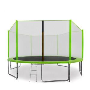 Aga SPORT PRO Trampolína 430 cm světle zelená + ochranná síť + žebřík + kapsa na obuv