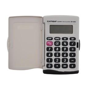 Kalkulačka Catiga 063, kapesní, bílo-černá