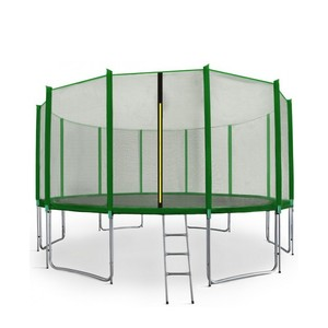 Aga SPORT PRE Trampolína 500 cm tmavo zelená + ochranná sieť + rebrík + vrecko na obuv